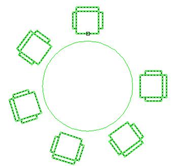 Modifier un r seau polaire autocad 2d et 3d for Chaise 3d dessin